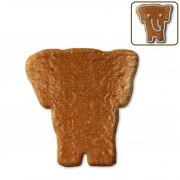 Gingerbread elephant head blank, 12 cm