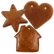 Gingerbred blank set, each 5x heart, star and house