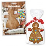 Craft kit Gingerbread woman 10cm - Christmas Edition