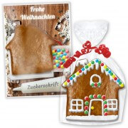 Gingerbread house kit for crafting, flat - Christmas Edition