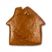 Gingerbread house blank, 18cm