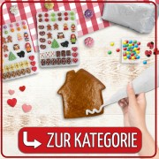 ### To the category ### Gingerbread house decoration accessories