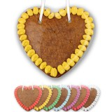 Gingerbread hearts blank to design, 14cm - edge color selectable