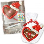Individual gingerbread hearts with cap crafting kits