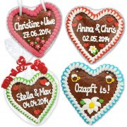 Your own designed gingerbread heart 16cm