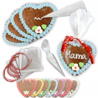 Gingerbread heart - Do-It-Yourself Complete-Set - 10 Pieces