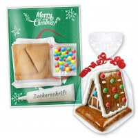 Gingerbread house crafting kit, 9x8x9cm