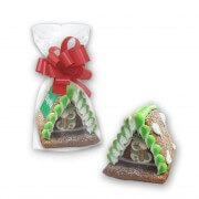 Mini Gingerbread witch house with Logo - extra small