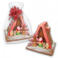 Personalized gingerbread house with logo - large