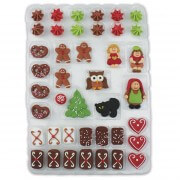 Sugar decoration for gingerbread house - 41-parts