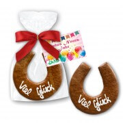 Gingerbread Horseshoes, 17cm with printed card