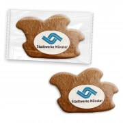 Fool cap gingerbread, 8cm incl. Logo