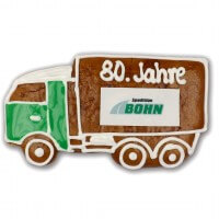 Gingerbread truck individual, ca24cm - optional with logo