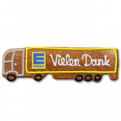 Gingerbread semitrailer individually 24cm - Logo optional