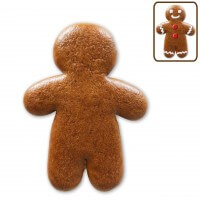 Gingerbread man blank for self-painting, 15cm