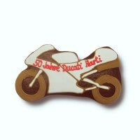 Gingerbread motorcycle individual, 30cm - optional with logo