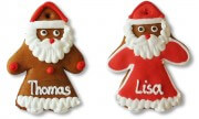 Gingerbread Santa Claus, 10cm Placement Card