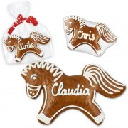 Gingerbread place cards horse approx. 12cm