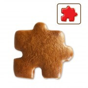 Gingerbread puzzle piece to decorate yourself 9cm