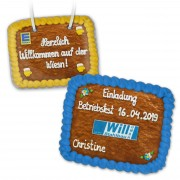Gingerbread rectangle 29x20cm - optional with logo