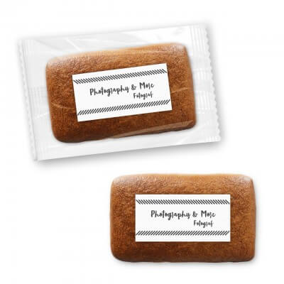 Gingerbread rectangular 10cm, with logo