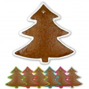 Gingerbread pinetree spiky blank with border, 22 cm