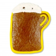 Gingerbread blank with border - beer mug 18cm - yellow