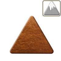 Gingerbread triangle for crafting, 15cm