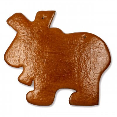 XXL Gingerbread moose blank, 42 cm