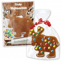 Crafting kit Gingerbread Elk for self-decoration - Christmas Edition