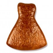Gingerbread wedding dress blank, 12 cm