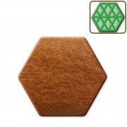 Gingerbread hexagon to decorate, about 18cm