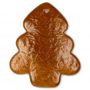 Gingerbread pinetree rounded blank, 20 cm