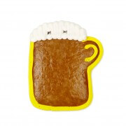 Gingerbread blank with border - beer mug 12cm - yellow