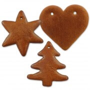 Gingerbred blank do-it-yourself set - each 5x heart, star and fir tree