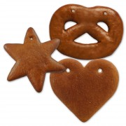Gingerbred blank do-it-yourself set - each 5x pretzel, heart and star