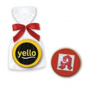 Mini Gingerbread Medal, 5cm colored - incl. logo