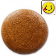 Gingerbread round blank, 8cm - do-it-yourself