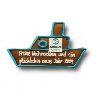 Gingerbread ship individual, 24cm - optional with logo