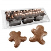 Gingerbread man, 12pcs blister milk chocolate