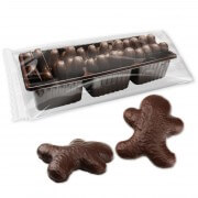 Chocolate gingerbread men 12pcs blister bittersweet