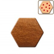 Hexagon gingerbread, blank about 13cm