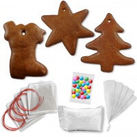Gingerbread decorating complete set - 15 blanks and accessories