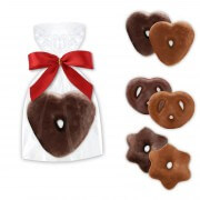 Mini gingerbread Hearts - Prezels - Stars with dark or whole milk chocolate - single packed