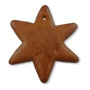 Gingerbread Star blank, 12cm