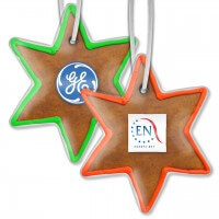 Gingerbread star 15cm - incl. label