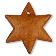 Gingerbread Star blank, 15cm