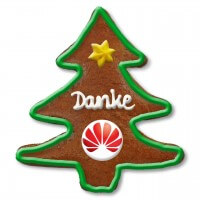 Gingerbread Christmas tree customized, 12cm