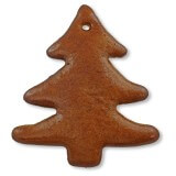 Gingerbread Christmas Tree  pointed blank, 12cm
