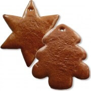 unwrought gingerbred star or fir tree, 25 pieces